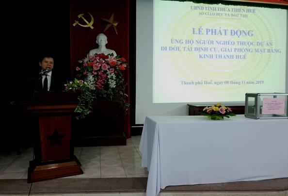 Phát động ủng hộ người nghèo thuộc dự án di dời, tái định cư, giải phóng mặt bằng khu vực 1 kinh thành Huế