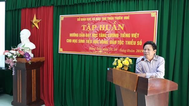Tập huấn dạy học tăng cường tiếng Việt cho học sinh tiểu học vùng dân tộc thiểu số năm học 2019-2020
