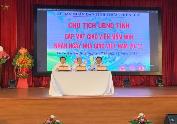 Chủ tịch UBND tỉnh gặp mặt giáo viên mầm non nhân ngày Nhà giáo Việt Nam 20/11