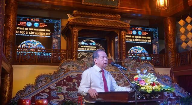 Ký kết Biên bản ghi nhớ Chương trình hợp tác giáo dục Di sản văn hóa Huế tại các trường học trên địa bàn tỉnh Thừa Thiên Huế giữa Sở GD&DT và Trung tâm Bảo tồn Di tích Cố đô Huế