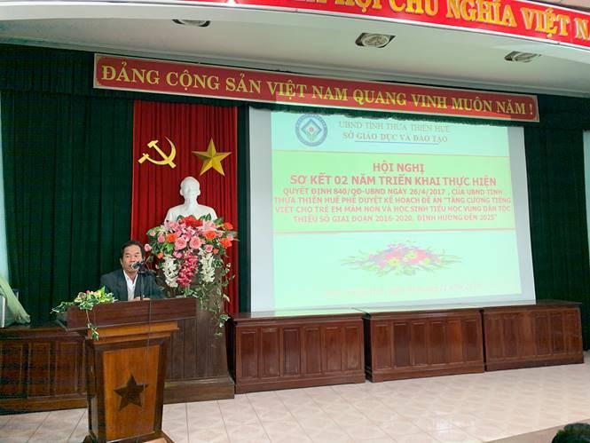 Hội nghị sơ kết 02 năm thực hiện Quyết định 840/QĐ-UBND tỉnh phê duyệt Kế hoạch thực hiện Đề án tăng cường tiếng Việt cho trẻ em người dân tộc thiểu số