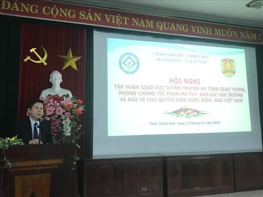 Hội nghị tập huấn tuyên truyền giáo dục về an toàn giao thông, phòng ngừa tội phạm, ma túy, bạo lực học đường và bảo vệ chủ quyền biên giới, Biển, Đảo Việt Nam