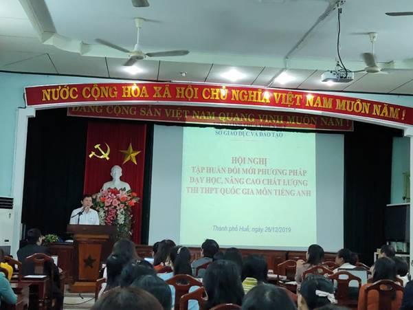 Tin hội nghị tập huấn đổi mới phương pháp dạy và học, nâng cao chất lượng môn ngoại ngữ