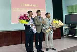 Khai mac kỳ thi tuyển chức danh Hiệu trưởng Trường THPT Gia Hội