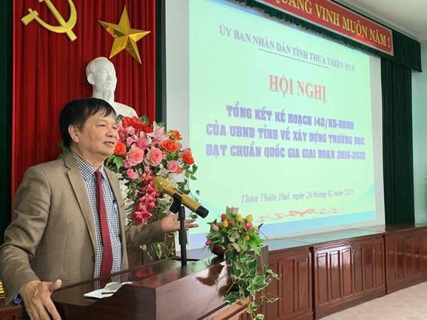 Tổng kết Kế hoạch số 142/KH-UBND ngày 19/9/2016 của UBND tỉnh, Thừa Thiên Huế có 63,37% tổng số trường đạt chuẩn quốc gia.