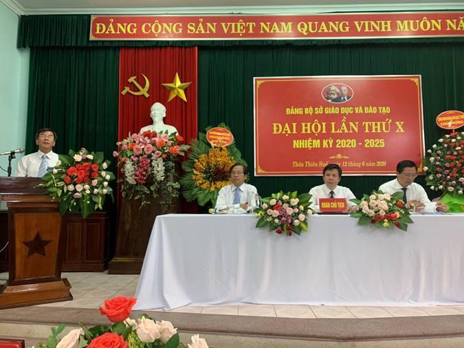 Đại hội Đảng bộ Sở Giáo dục và Đào tạo Thừa Thiên Huế, lần thứ X- nhiệm kỳ 2020-2025