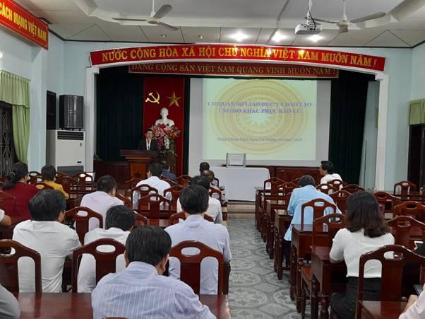 Sở Giáo dục và Đào tạo tổ chức quyên góp ủng hộ cứu trợ khắc phục bão lũ