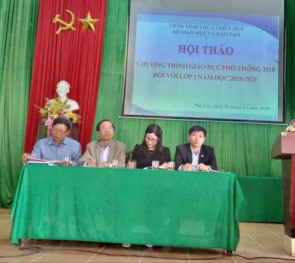 Hội thảo tăng cường công tác chỉ đạo thực hiện Chương trình Giáo dục phổ thông 2018 tại huyện Phú Lộc