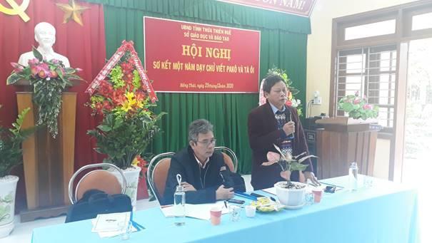 Hội nghị sơ kết 1 năm dạy chữ viết Pa Kô và Tà Ôi cho học sinh tiểu học ở huyện A Lưới