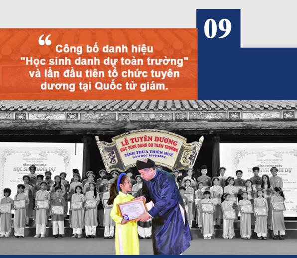 Giáo dục Thừa Thiên Huế vinh dự và tự hào được chọn  trong 10 sự kiện tiêu biểu nhất của tỉnh năm 2020