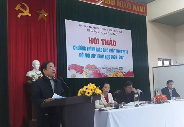 Hội thảo tăng cường công tác chỉ đạo thực hiện Chương trình Giáo dục phổ thông 2018 tại thị xã Hương Thủy