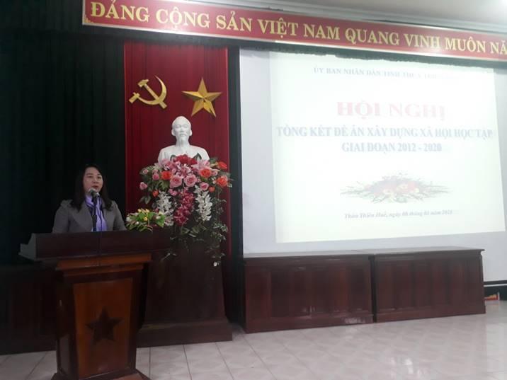 """Hội nghị Tổng kết việc thực hiện Đề án """"Xây dựng xã hội học tập giai đoạn 2012-2020"""""""