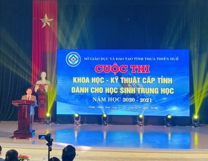 Khai mạc Cuộc thi Khoa học - Kĩ thuật dành cho học sinh Trung học tỉnh Thừa Thiên Huế năm học 2020 – 2021