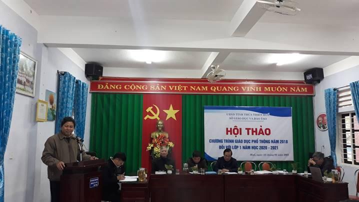 Hội thảo tăng cường công tác chỉ đạo thực hiện Chương trình Giáo dục phổ thông 2018 tại thành phố Huế