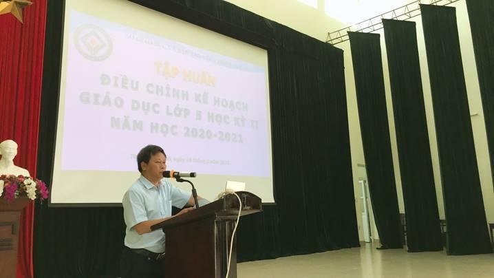 Hội nghị tập huấn điều chỉnh kế hoạch giáo dục lớp 5 học kỳ II năm học 2020-2021