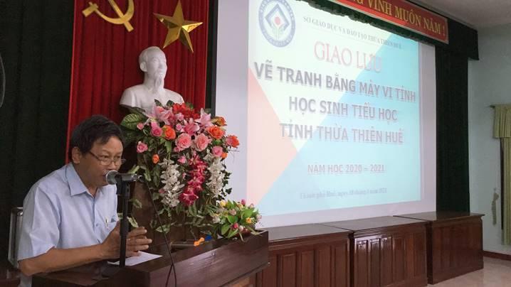 Giao lưu Vẽ tranh bằng máy vi tính học sinh tiểu học tỉnh Thừa Thiên Huế năm học 2020 – 2021