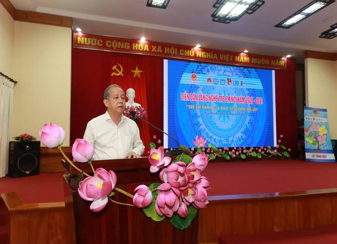 """Thực hiện Chương trình """"Diễn đàn Lắng nghe trẻ em nói"""" năm học 2020-2021 tại tỉnh Thừa Thiên Huế"""