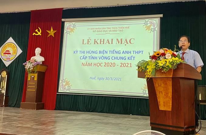Chung kết cuộc thi hùng biện tiếng anh THPT cấp tỉnh năm học 2020-2021