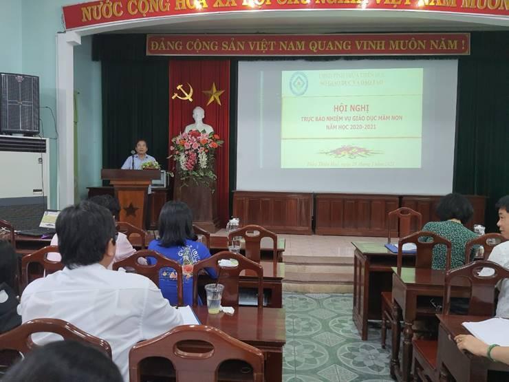 Hội nghị trực báo các Phòng Giáo dục và Đào tạo về Giáo dục mầm non năm học 2020-2021