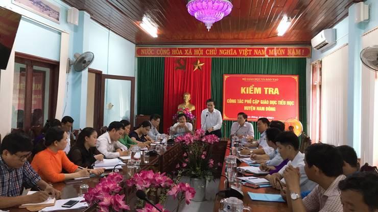 Bộ Giáo dục và Đào tạo kiểm tra công nhận tỉnh Thừa Thiên Huế đạt chuẩn Phổ cập Giáo dục Tiểu học mức độ 3