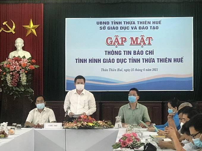 Sở GD&ĐT tổ chức gặp mặt các cơ quan báo chí trên địa bàn tỉnh thông tin về tình hình phát triển GD&ĐT Thừa Thiên Huế năm học 2020-2021 và những định hướng chỉ đạo kế hoạch năm học 2021-2022