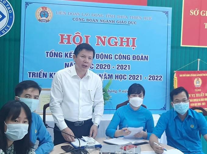 Công đoàn ngành Giáo dục tỉnh Thừa Thiên Huế tổ chức hội nghị tổng kết năm học 2020-2021