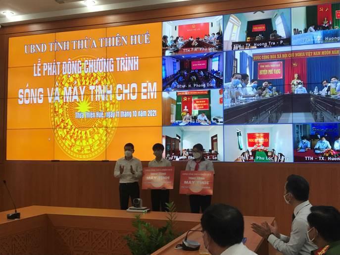 """Thừa Thiên Huế phát động Chương trình """"Sóng và máy tính cho em"""""""
