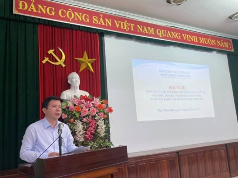 Hội nghị Tổng kết Cuộc thi Khoa học - Kĩ thuật cấp quốc gia, cấp tỉnh năm học 2020-2021 và triển khai kế hoạch Cuộc thi Khoa học - Kĩ thuật năm học 2021-2022  giành cho học sinh Trung học tỉnh Thừa Thiên Huế