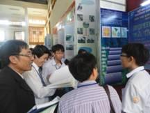 Cuộc thi sáng tạo khoa học - kỹ thuật Vòng 1: Báo cáo nội dung đề tài tại gian trưng bày sản phẩm