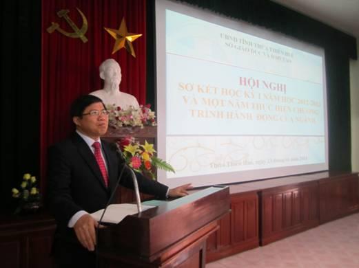 Hội nghị Triển khai Chương trình trọng điểm phát triển giáo dục và đào tạo năm 2013 và Sơ kết học kỳ 1 năm học 2012 -2013