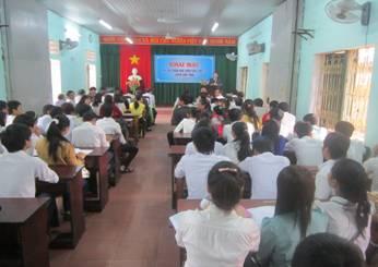 Hội thi chọn học viên giỏi lớp 12 GDTX cấp tỉnh năm học 2012-2013